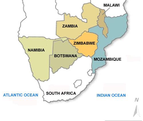 Map Of South Africa And Zimbabwe.Zimbabwe South Africa Map Biofocuscommunicatie